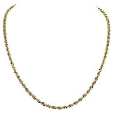 """14k Yellow Gold 19.4g Solid Rope 3.5mm Chain Necklace Michael Anthony 20"""""""
