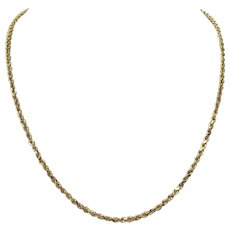 14k Yellow Gold 14g Solid Rope Diamond Cut 2.5mm Chain Necklace 20 Inches