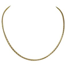 14k Yellow Gold Fancy Hollow Cylinder Open Link Chain Necklace 19.5""