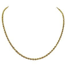 14k Yellow Gold 15.7g Solid Rope 3mm Chain Necklace 18 Inches