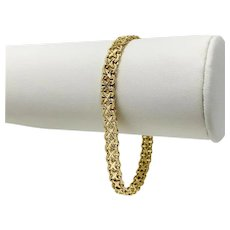 14k Yellow Gold 13.5g Fancy Link 6mm Bracelet Italy 7 Inches