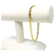 """14k Yellow Gold Men's 5.5mm Gucci Anchor Mariner Link Chain Bracelet Italy 8.5"""""""
