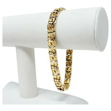 14k Yellow Gold Solid 28.7g Chunky Nugget Style 8.5mm Link Bracelet 8.5 Inches