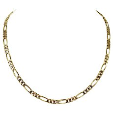 """14k Yellow Gold 24.9g Solid Heavy 5mm Figaro Link Chain Necklace 20"""""""