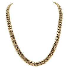 """10k Yellow Gold 78.5g Heavy Hollow 11mm Cuban Curb Link Chain Necklace 28"""""""