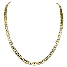 """10k Yellow Gold 42.3g Solid 7mm Gucci Mariner Link Chain Necklace Italy 24.5"""""""
