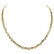 """14k Yellow Gold 25.5g Solid 6mm Gucci Mariner Link Chain Necklace Italy 21"""""""