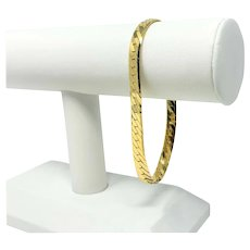 "14k Yellow Gold 17g Herringbone Link 6.5mm Chain Bracelet 8.75"""