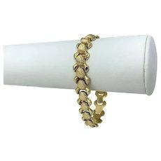 """14k Italian Yellow Gold 15g Ladies Fancy Link Bracelet 7"""""""