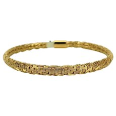 "Tiffany & Co. 18k Yellow Gold Flex Mesh Weave Ladies Bracelet 7.5"""
