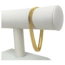 """14k Yellow Gold 8mm Wide Fancy Link Chain Bracelet Italy 8"""""""