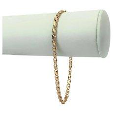 "14k Rose Gold Billy Brand Fancy Ladies Chain Bracelet 8.25"""