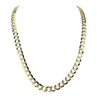 14k Yellow Gold 66.9g Solid Diamond Cut 10mm Curb Link Chain Necklace 28""