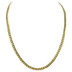18k Yellow Gold 16.4g Hollow 5mm Curb Link Chain Necklace 24""