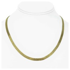14k Yellow Gold 10.2g Ladies 4.5mm Bismark Link Chain Necklace 18""