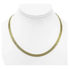 14k Yellow Gold 11.7g Ladies Flat 5.5mm Fancy Link Chain Necklace 18""