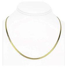 "14k Yellow Gold 7g UnoAErre 2mm Cobra C Link Chain Necklace Italy 18"""