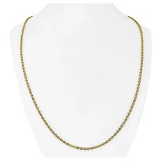 """18k Yellow Gold 10.7g Solid 2.5mm Circle Cable Link Chain Necklace 25"""""""