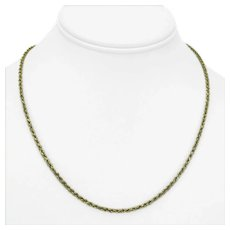 14k Yellow Gold 8.4g Solid 2mm Rope Chain Necklace 18""