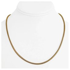 14k Yellow Gold 9.1g Ladies 2.5mm Snake Link Chain Necklace Italy 18""