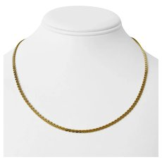 """14k Yellow Gold 11.8g Solid Serpentine S Link Link Chain Necklace Italy 17.5"""""""