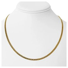 """14k Yellow Gold 7.7g Thin 2.5mm Double Curb Link Chain Necklace Italy 18.5"""""""