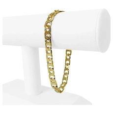 "14k Yellow Gold 20.9g Men's 8mm Figure 8 Curb Link Bracelet Italy 8.5"""
