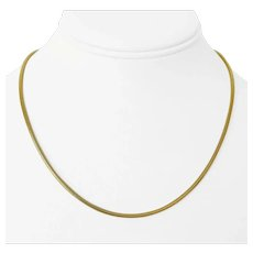 14k Yellow Gold 13g Solid 2mm Snake Link Chain Necklace Italy 17""