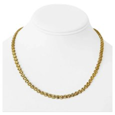 14k Yellow Gold 14g Ladies Diamond Cut Circle Link Chain Necklace 17.5""