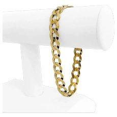"""14k Yellow Gold 27.7g Solid 11mm Men's Curb Link Bracelet 9"""""""