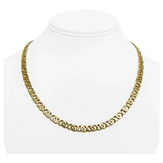 """14k Yellow Gold 30.6g Solid Heavy 5.8mm Figure 8 Curb Link Chain Necklace 19"""""""
