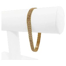 """14k Yellow and Rose Gold Two Tone 14.3g Ladies Fancy Link Bracelet 7.5"""""""