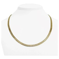 """14k Yellow Gold 17.7g Solid 4.5mm Fancy Link Chain Necklace Italy 20"""""""