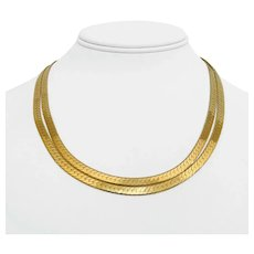 """14k Yellow Gold 35.9g Solid Long 4.5mm Herringbone Link Chain Necklace Italy 36"""""""