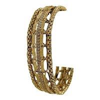 "14k Yellow Gold 25g Vintage 12.5mm Ladies Fancy Link Bracelet 7.25"""