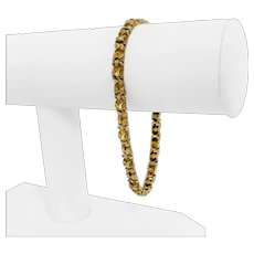 """14k Yellow Gold 14.5g Solid 5mm Chunky Nugget Link Bracelet 8"""""""