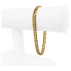 """10k Yellow Gold 11.6g Solid Men's 6mm Curb Link Bracelet Italy 8.25"""""""