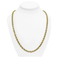 """10k Yellow Gold 37.2g Solid 5mm Michael Anthony Rope Chain Necklace 24"""""""