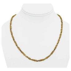 """14k Yellow Gold 30g Solid Heavy 3.5mm Chunky Nugget Style Link Necklace 19.5"""""""
