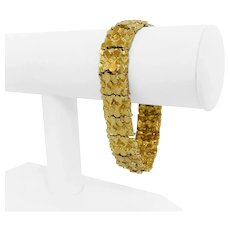 """14k Yellow Gold 59.3g Solid Heavy 15.5mm Chunky Nugget Link Bracelet 7.75"""""""