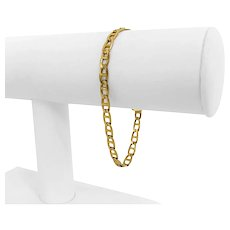 """14k Yellow Gold 8.4g Ladies 4.5mm Mariner Gucci Link Bracelet Italy 7.25"""""""