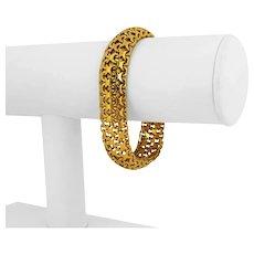 """24k Yellow Gold 57.9g Solid Heavy 14mm Fancy Link Bracelet 7.25"""""""