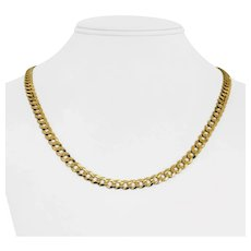 """10k Yellow Gold 14.4g Hollow 6mm Curb Link Chain Necklace 20"""""""