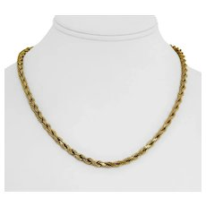 """14k Yellow Gold 31.3g Solid Heavy 4.5mm Diamond Cut Rope Chain Necklace 18"""""""