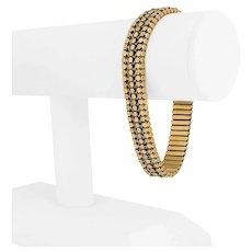 """19k Portuguese Yellow Gold 38g Ladies 12mm Floral Fancy Link Bracelet 7.75"""""""