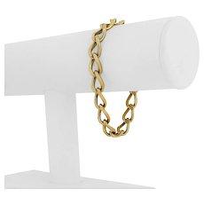 "14k Yellow Gold 25.1g Solid Ladies Vintage 8mm Curb Link Bracelet 7.25"""
