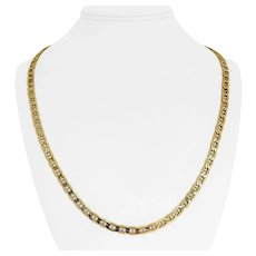"""14k Yellow Gold 15.3g Hollow Light 5mm Mariner Gucci Link Chain Necklace 24"""""""