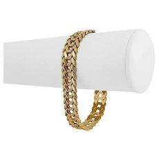 "18k Yellow Gold 18.4g Ladies Polished 12mm Fancy V Link Bracelet Italy 7.25"""