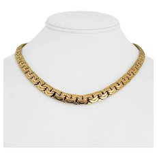 """14k Yellow Gold 39.9g Thick Graduated Fancy Curb Link Chain Necklace Italy 17.5"""""""