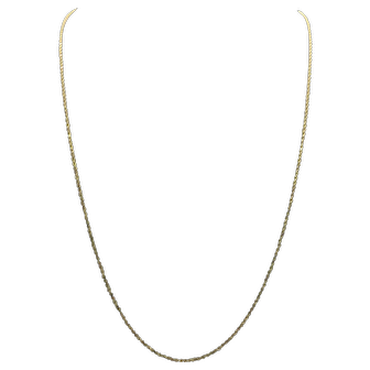 14k Solid Yellow Gold Diamond Cut Rope Chain Necklace 30 Inches
